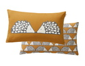 SCION LIVING SPIKE CARAMEL COUSSIN RECTANGLE
