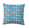 SCION LIVING SPIKE TURQUOISE COUSSIN CARRE VERSO